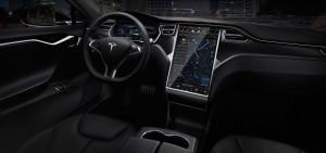 Tesla luxury sedans interior driver panel