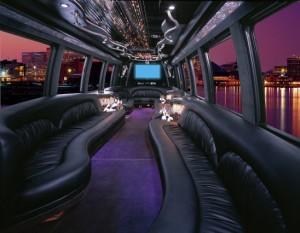 22 Pass Limo Bus Interior